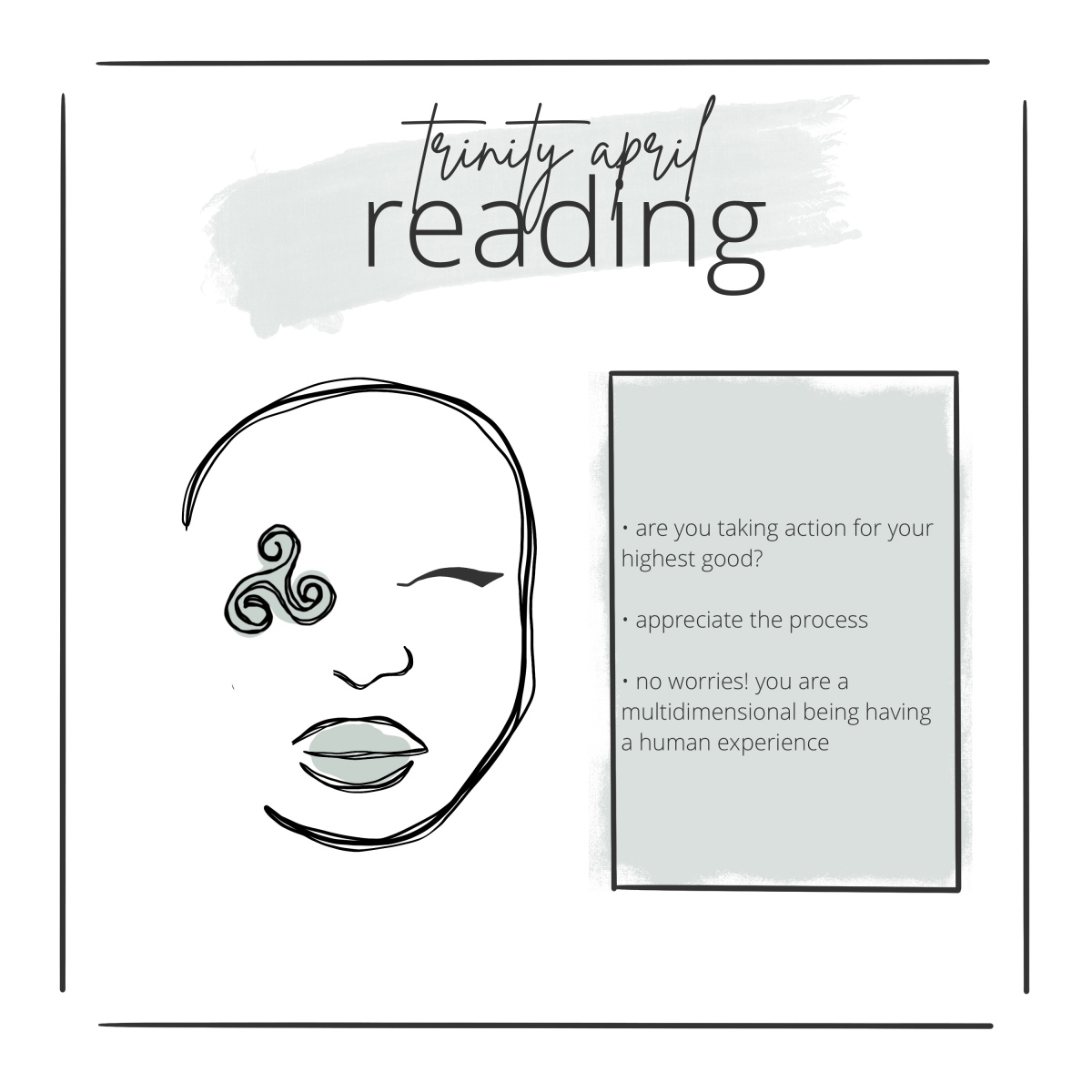 trinity april reading outline